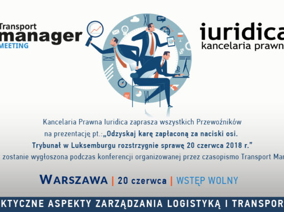Transport Manager Meeting 2018 - Zaproszenie IURIDICA